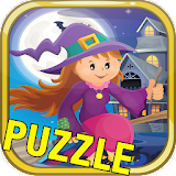 Halloween City Puzzle Funy Kid for iphone