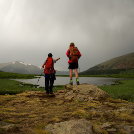 Point the way by Debbie Hunt - People Street & Candids ( adventure, altitude, weather, lake, hiking )