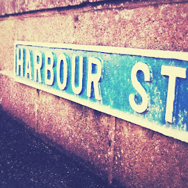 Harbour Street  by Robertamay Innes - Artistic Objects Signs