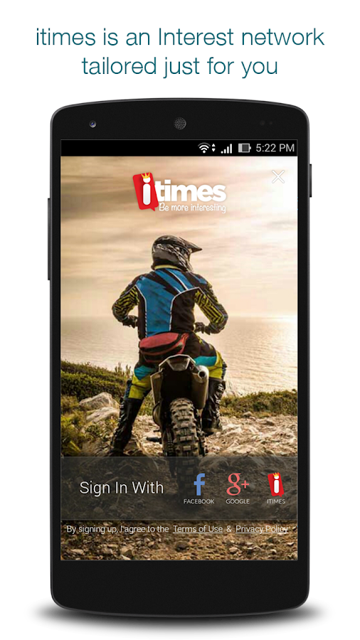 itimes-Social App on Interests Screenshot 0