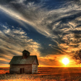 Goodnight  by Casey Mitchell - Landscapes Sunsets & Sunrises ( crib, sunset, farming )