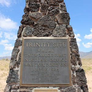 TRINITY SITE WHERE THE WORLD'S FIRST NUCLEAR DEVICE WAS EXPLODED ON JULY 16, 1945  Submitted by @wellerstein