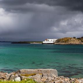 Raincloudes by Benny Høynes - Landscapes Weather ( water, cloudes, weatherscapes, sea, storm, sun, rain )