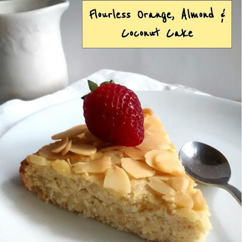 Flourless Orange, Almond & Coconut Cake