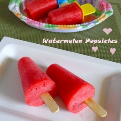 Watermelon Popsicles