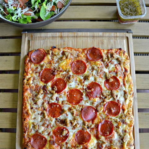 Italian Chopped Salad + Freschetta Pizza