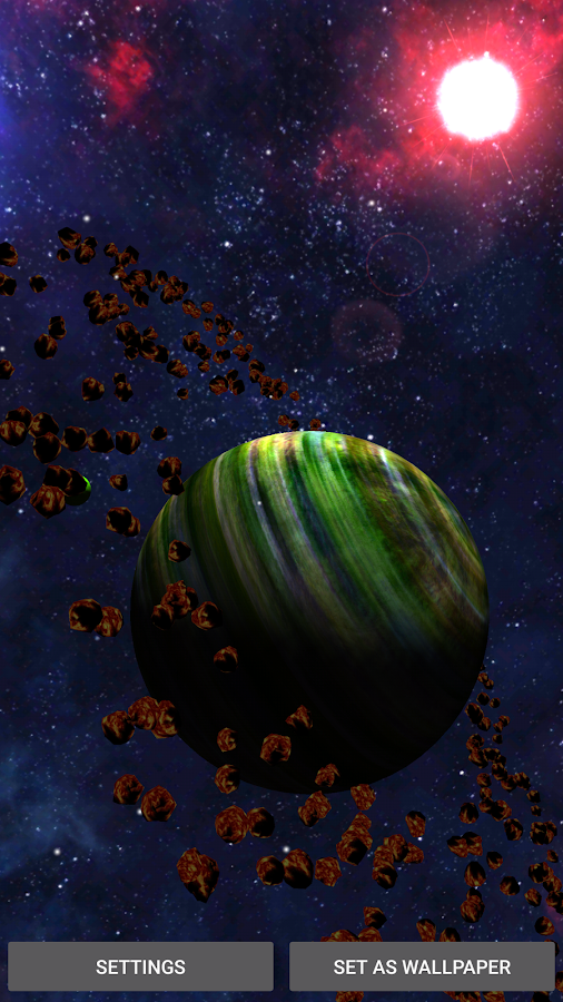 3D Space Planets LWP Screenshot 2