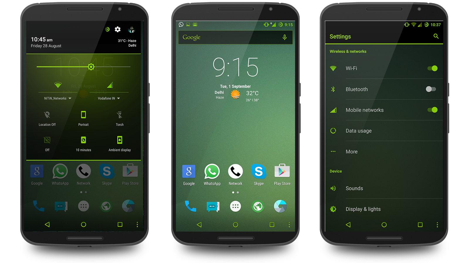 Neon Green Theme CM13 Screenshot 8