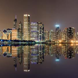 Chicago Skyline by Dmitriy Andreyev - City,  Street & Park  Skylines (  )