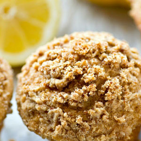 Lighter Greek Yogurt Lemon Crumb Muffins