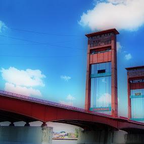 ampera bridge by Dyaz Afryanto - Buildings & Architecture Bridges & Suspended Structures