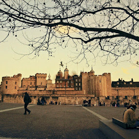 walking past Tower of London by Filio Starova - City,  Street & Park  Historic Districts