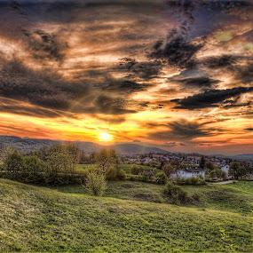 sunset in slunj by Vedran Bozicevic - Landscapes Sunsets & Sunrises ( amazing, beatiful, hdr, sunset, landscape, slunj )