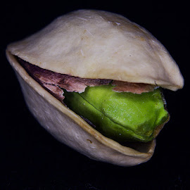 A Pistachio by Kyric Designs - Food & Drink Ingredients ( macro, green, nuts, nut, pistachio )