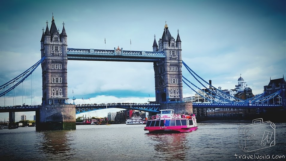 View of Tower Bridge From the River Bus