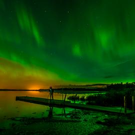 Aurora In Edmonton by Joseph Law - Landscapes Starscapes