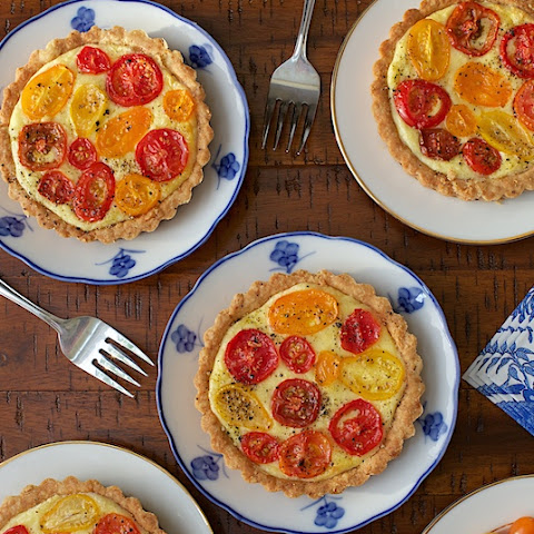 Goat Cheese and Tomato Soufflé Tarts