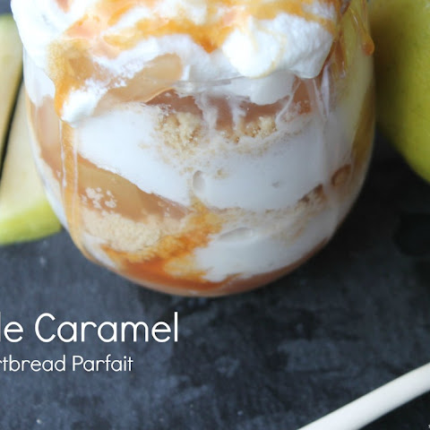 Caramel Apple Shortbread Parfaits