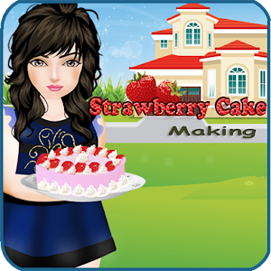 Strawberry Cake Making