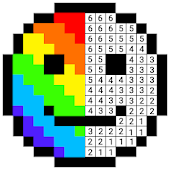 InDraw - Color by Number Pixel Art Coloring Book Icon
