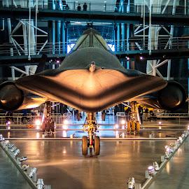 SR-71 Blackbird by Justin Lin - Transportation Airplanes ( museum, airplane, sr-71 blackbird, udvar-hazy )