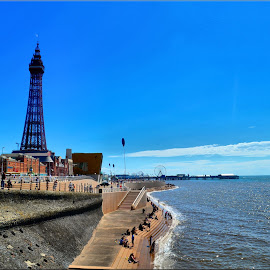 blackpool sea front by Nic Scott - Landscapes Beaches ( sea front, blackpool, beach, seaside )