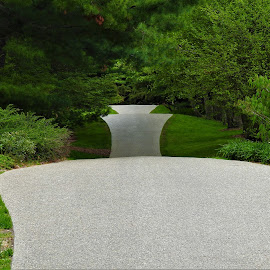 Hour Glass Path by Kathy Woods Booth - City,  Street & Park  City Parks ( path, pathway, walkway, garden, park )