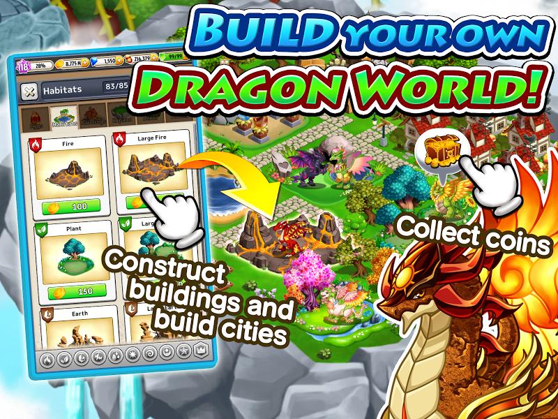 Dragon x Dragon -City Sim Game Screenshot 1