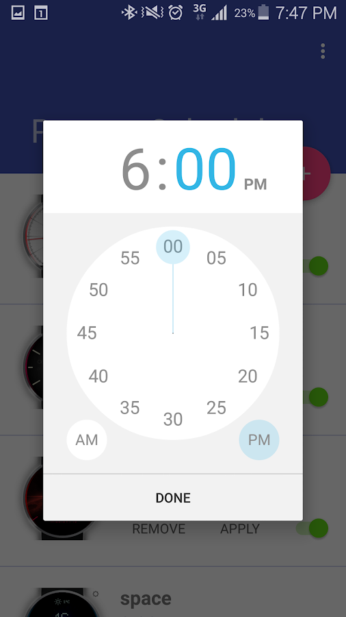 Presets Scheduler for M&E Screenshot 3