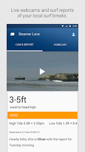 Surfline Surf Reports/Forecast screenshot for Android