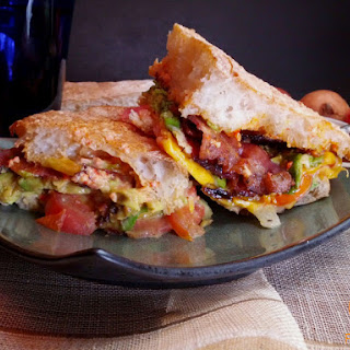 BLT with Avocado and Roasted Red Pepper Aioli