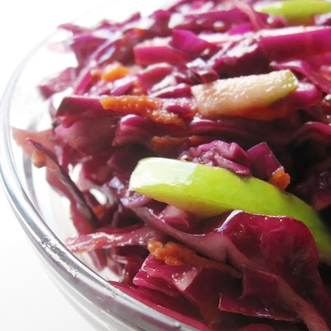 Red Cabbage Coleslaw with Tangy Apple Cider Vinegar Dressing