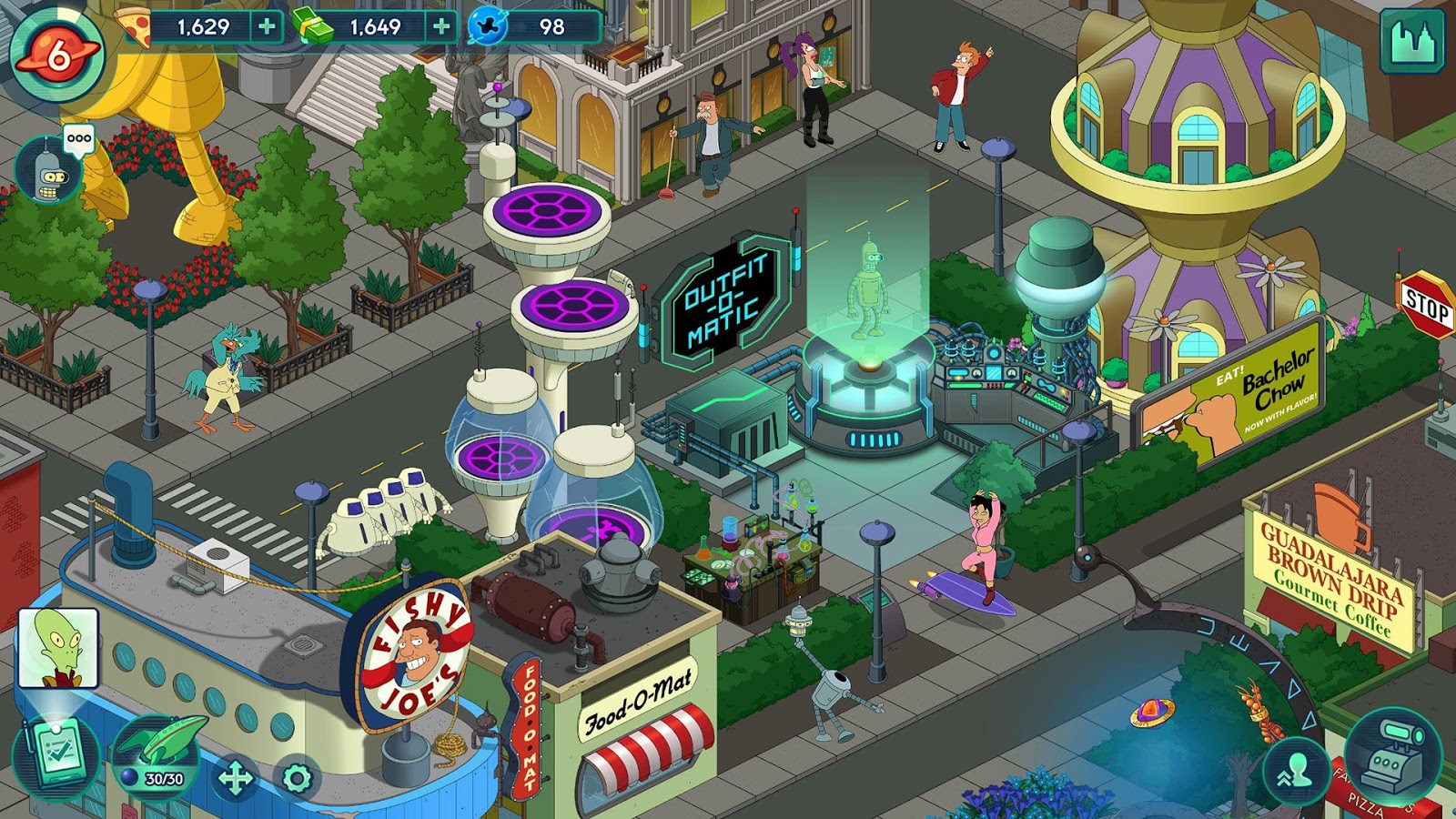 Futurama: Worlds of Tomorrow Screenshot 6