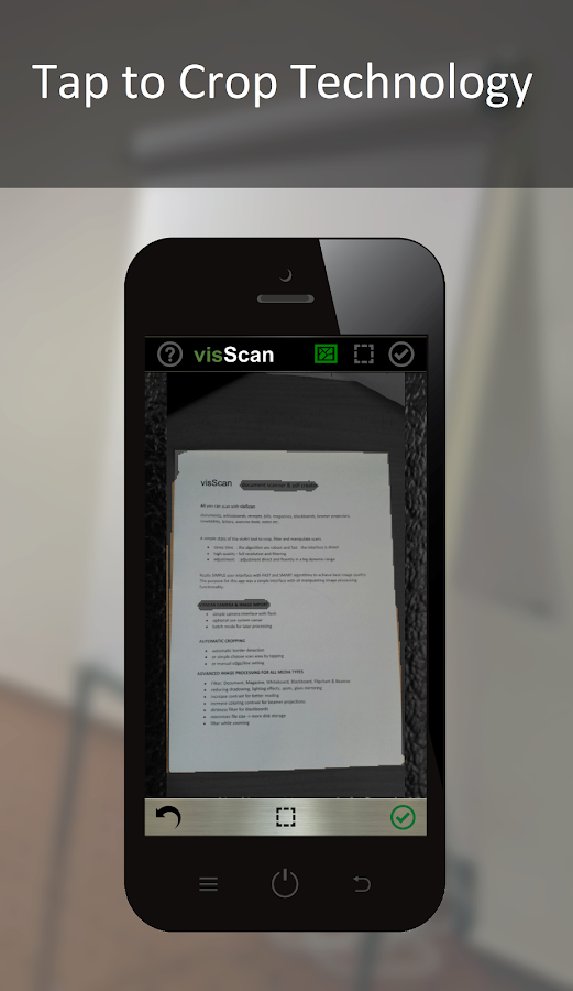 visScan - Document Scanner Screenshot 1