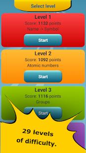 App periodic table quiz apk for windows phone android games and apps app periodic table quiz apk for windows phone urtaz Images