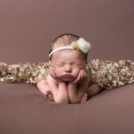 Mocha Froggie by Nicole Ferris - Babies & Children Babies ( baby girl, brown, sleeping, composite, newborn )