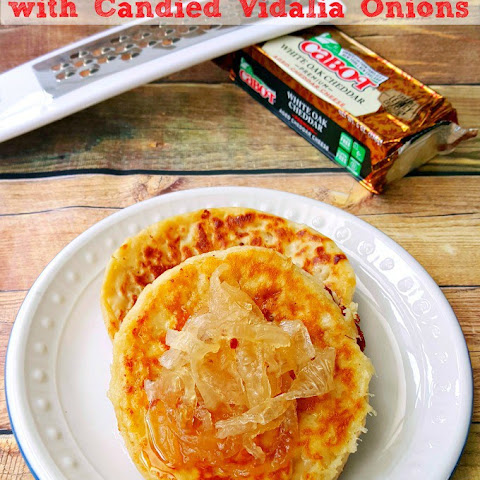 Chipotle Cheddar Crumpets with Candied Vidalia Onions #BrunchWeek
