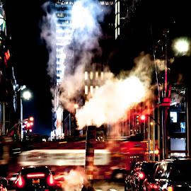 Busy Night by Jojo Garcia - City,  Street & Park  Night
