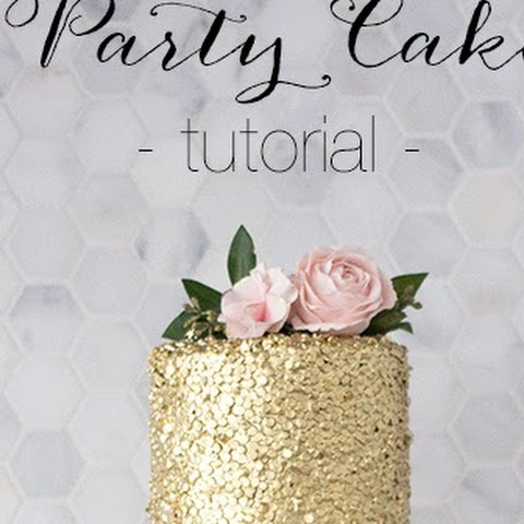 Cake Decorating Tutorial // Blush Ruffles & Gold Sequins