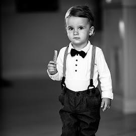 Guiltless by Ciprian Obrad - Babies & Children Child Portraits ( festive, indoor, dress up, child portrait, candid, childhood, alone, boy )