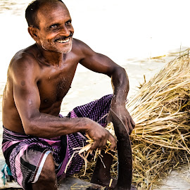 Farmer's Smile  by Imtiaz Ipshito - People Portraits of Men