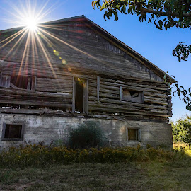 Old Barn by Chris Bartell - Buildings & Architecture Decaying & Abandoned ( old, hood river, barns, landscape, fields )