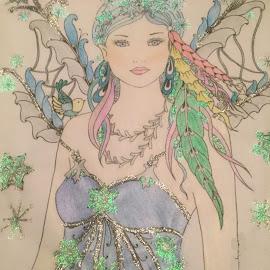 Ice Princess.... by Melanie Goins - Illustration People ( pretty, cartoon, wings, princess, glitter )