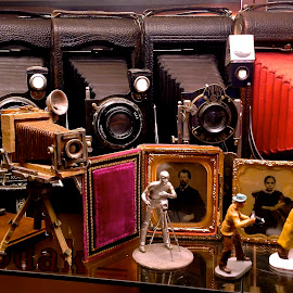 Photographic Phantasy by Campbell McCubbin - Artistic Objects Antiques ( photos, bellows, tintypes, photographer, kodak, figurine, cameras )