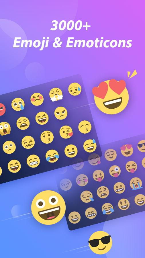 GO Keyboard Pro - Emoji, GIF Screenshot 1