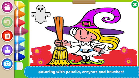Halloween Coloring Book Free App For Your Phone