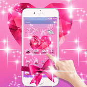 Free Pink Love Diamond Bowknot APK for Windows 8
