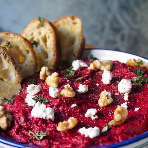 Roasted Beet, Parsnip And Herb Goat Cheese Dip