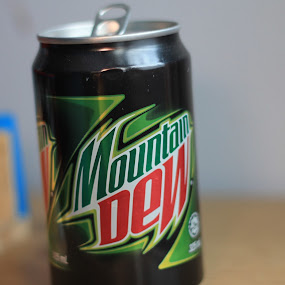 MountainDew by Rex Myrul - Food & Drink Ingredients ( can mtndew aluminium green )