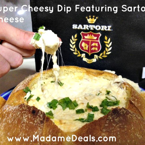 Super Cheesy Dip in a Bread Bowl